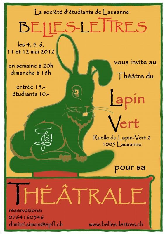 Affiche théâtrale 2012